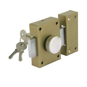 Cerradura de seguridad con botón interno