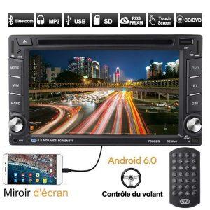Radio con pantalla táctil para coche