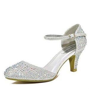 2fa4507d Estos zapatos plateados de fiesta no te dejarán indiferente puesto que se  trata de un tipo de calzado en color plateado con bonitos adornos de  purpurina.
